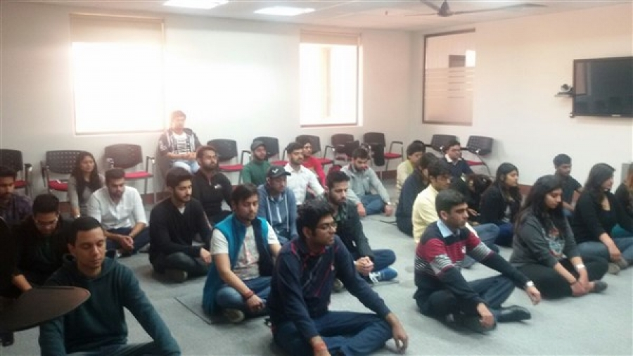 Vishvas Meditation Session at GD Goenka World Institute, Gurgaon